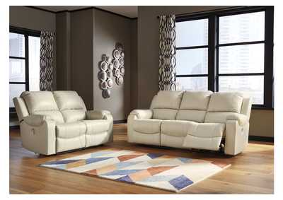 Image for Rackingburg Cream Power Reclining Sofa & Loveseat