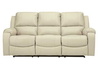 Rackingburg Cream Reclining Sofa