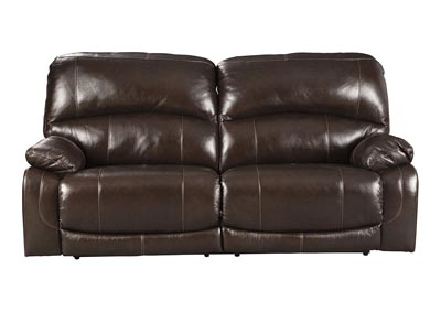 Hallstrung Chocolate Power Reclining Sofa w/Adjustable Headrest,Signature Design By Ashley