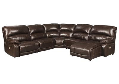 Hallstrung Chocolate Reclining Sectional,Signature Design By Ashley