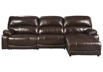 Hallstrung Chocolate RAF Chaise Reclining Sectional