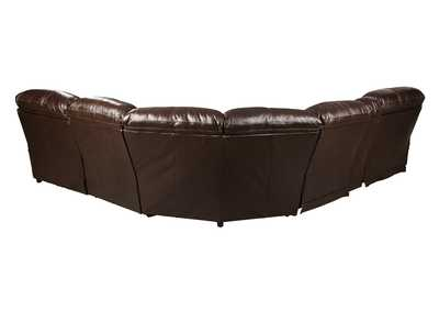 Hallstrung Chocolate Reclining Sectional w/Console,Signature Design By Ashley