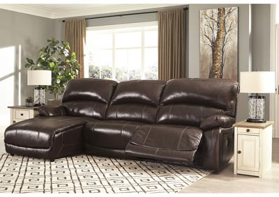 Hallstrung Chocolate LAF Chaise Reclining Sofa,Signature Design By Ashley
