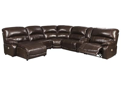 Hallstrung Chocolate LAF Chaise Reclining Sectional