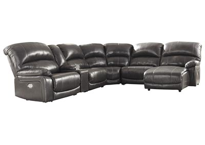 Image for Hallstrung Gray Power Reclining RAF Chaise Sectional w/Console