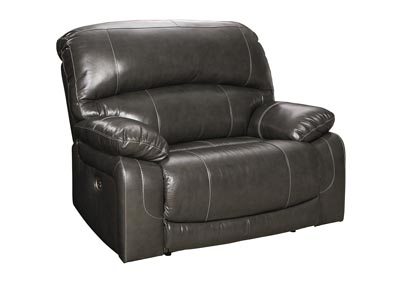 Image for Hallstrung Gray Zero Wall Power Wide Recliner