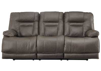 Image for Wurstrow Smoke Power Reclining Sofa w/Adjustable Headrest