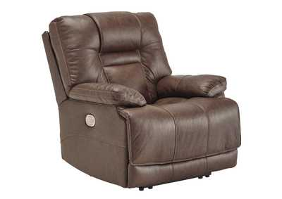 Image for Wurstrow Umber Power Recliner w/Adjustable Headrest