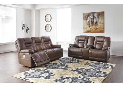 Image for Wurstrow Umber Power Reclining Sofa & Loveseat w/Adjustable Headrest