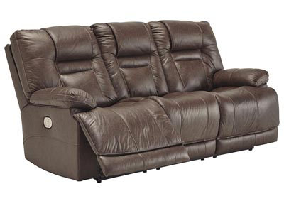 Wurstrow Umber Power Reclining Sofa w/Adjustable Headrest