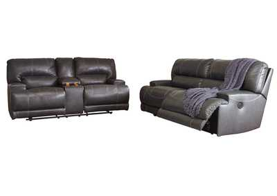 Image for McCaskill Gray 2 Seat Reclining Sofa & Double Reclining Loveseat w/Console