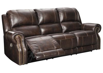 Image for Buncrana Chocolate Power Reclining Sofa w/Adjustable Headrest