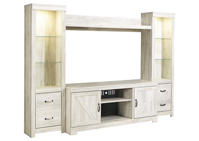 Bellaby Whitewash Entertainment Center