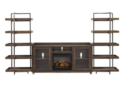 Image for Starmore Brown Entertainment Center w/Fireplace Insert Infrared
