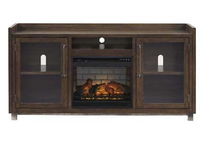 "Image for Starmore Brown 70"" TV Stand w/Fireplace Insert Infrared"