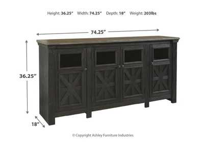 Tyler Creek Black/Gray Extra Large TV Stand,Signature Design By Ashley