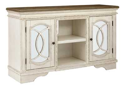 "Image for Realyn Chipped White 62"" TV Stand"