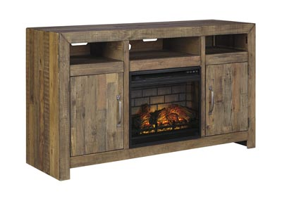 "Image for Sommerford Brown 62"" TV Stand w/Fireplace Insert Infrared"