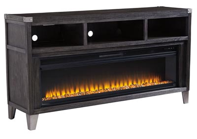Image for Todoe Gray LG TV Stand w/Fireplace