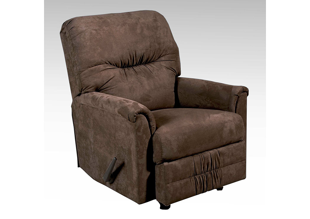 Sienna Chocolate Rocker Recliner,Hughes Furniture