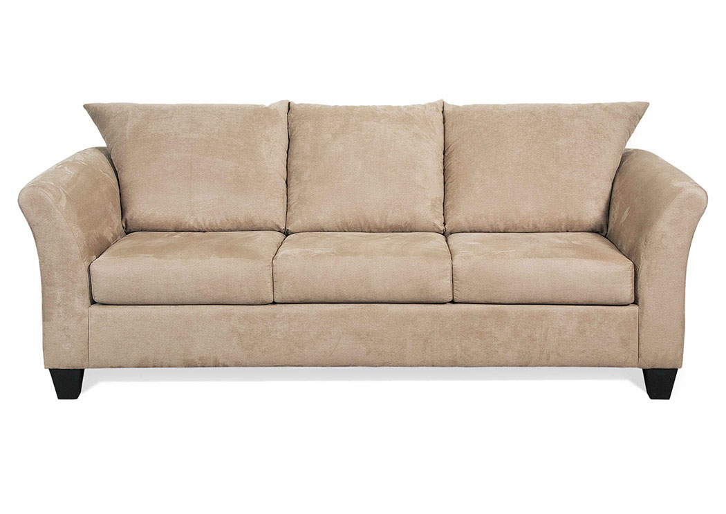 Sienna Mocha Stationary Sofa,Hughes Furniture