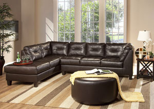 Image for San Marino Chocolate Sectional