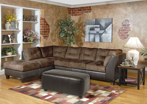 Image for San Marino Chocolate Padded Walnut Sectional