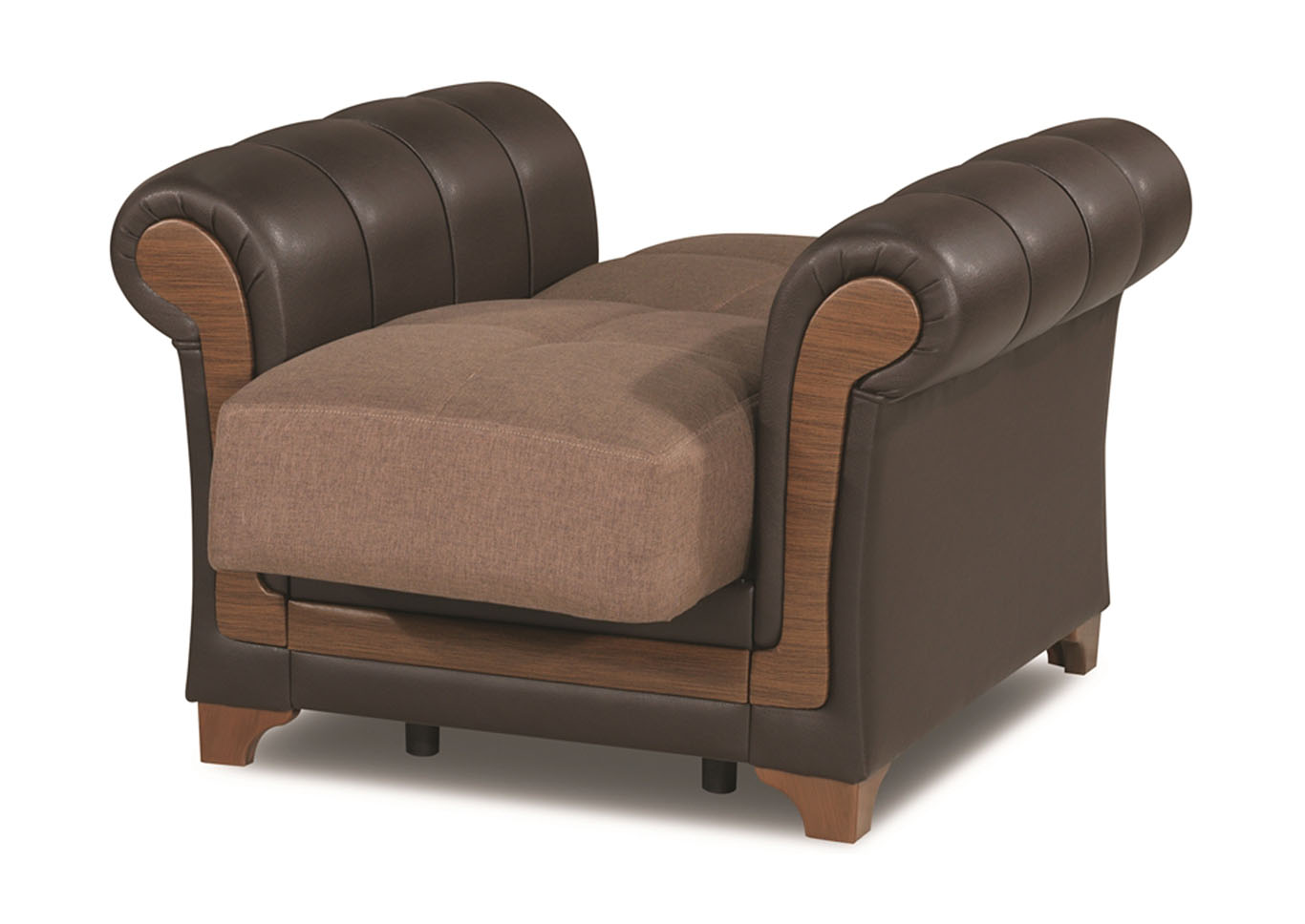 Dream Decor Brown Polyester Chair,CasaMode Functional Furniture