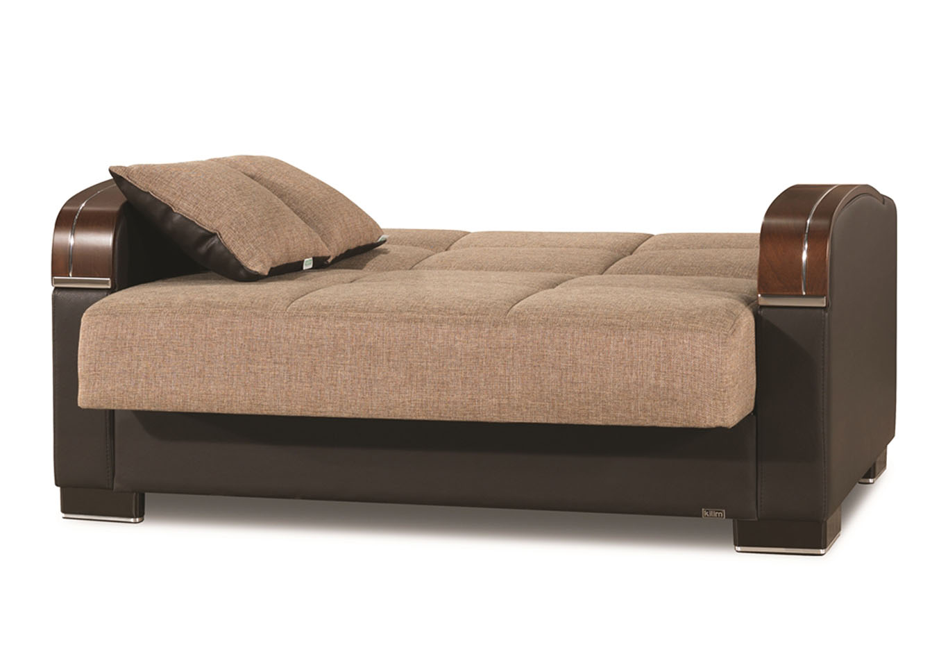 Mobimax Brown Polyester Love Seat,CasaMode Functional Furniture