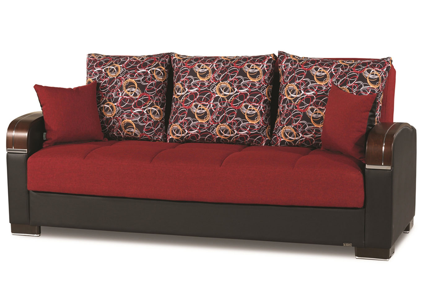 Mobimax Red Polyester Sofabed,CasaMode Functional Furniture