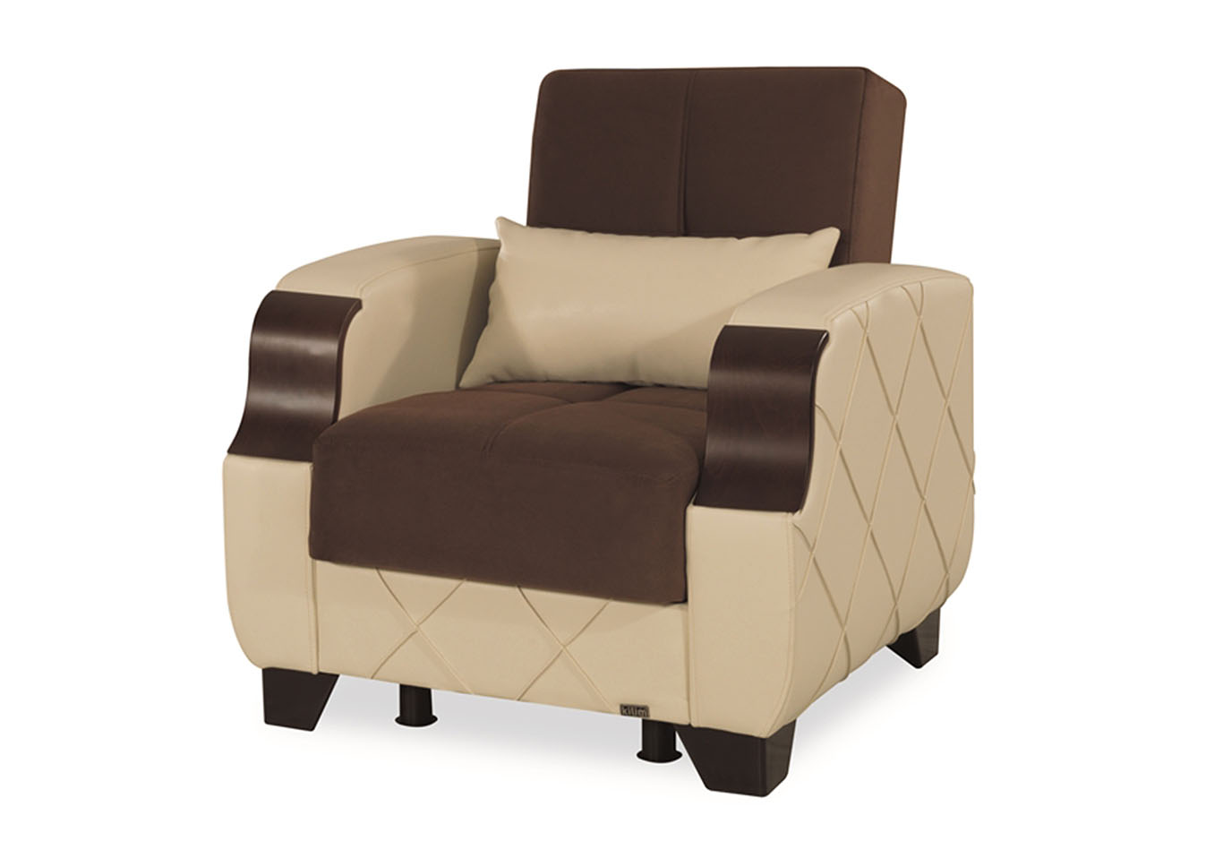Molina Brown Microsuede Armchair,CasaMode Functional Furniture