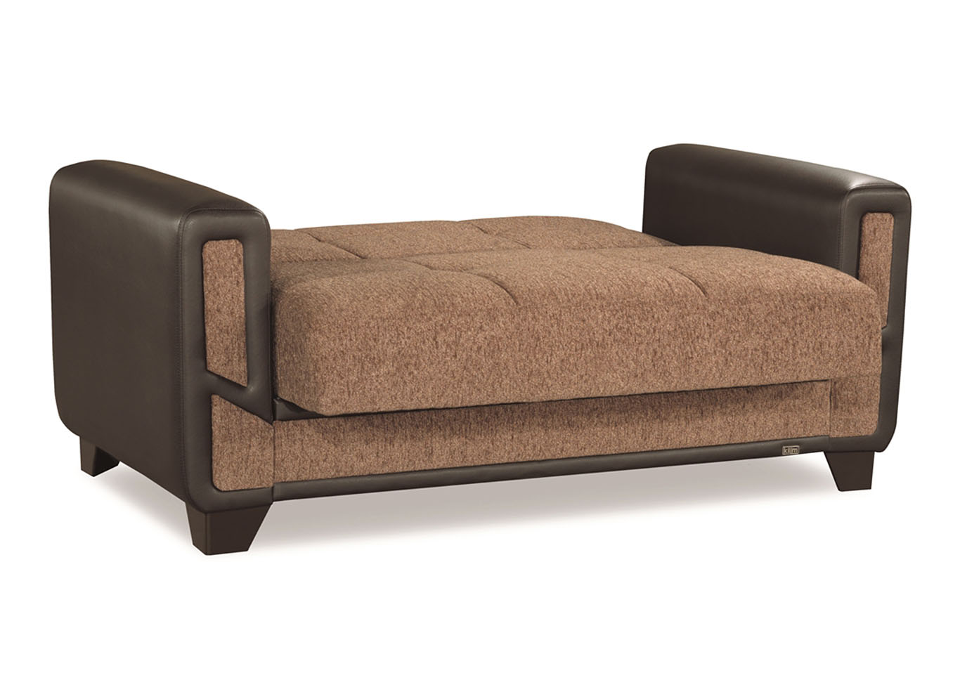 Mondo Brown Chenille Love Seat,CasaMode Functional Furniture
