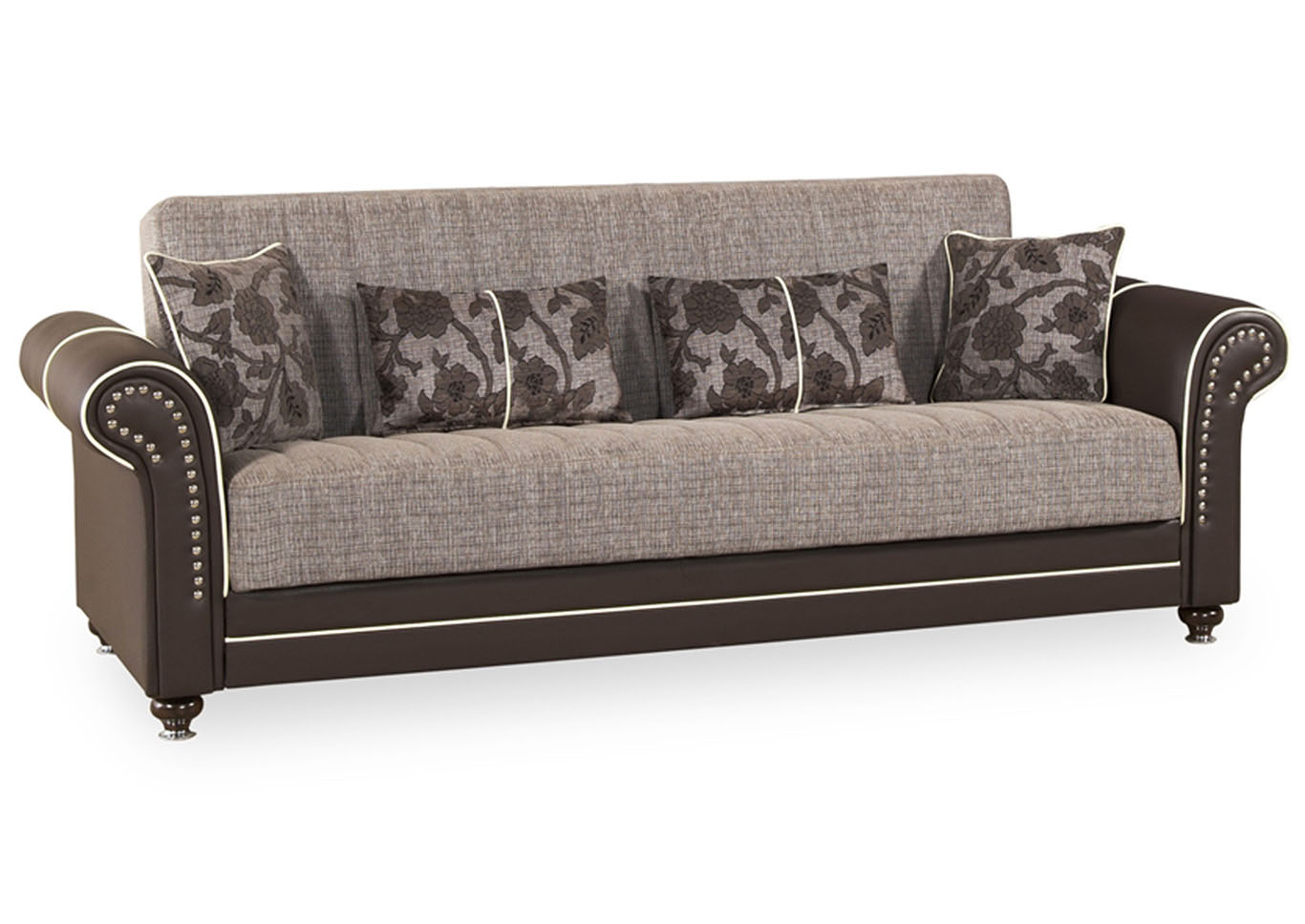 Royal Home Quantro Brown Chenille Sofabed,CasaMode Functional Furniture
