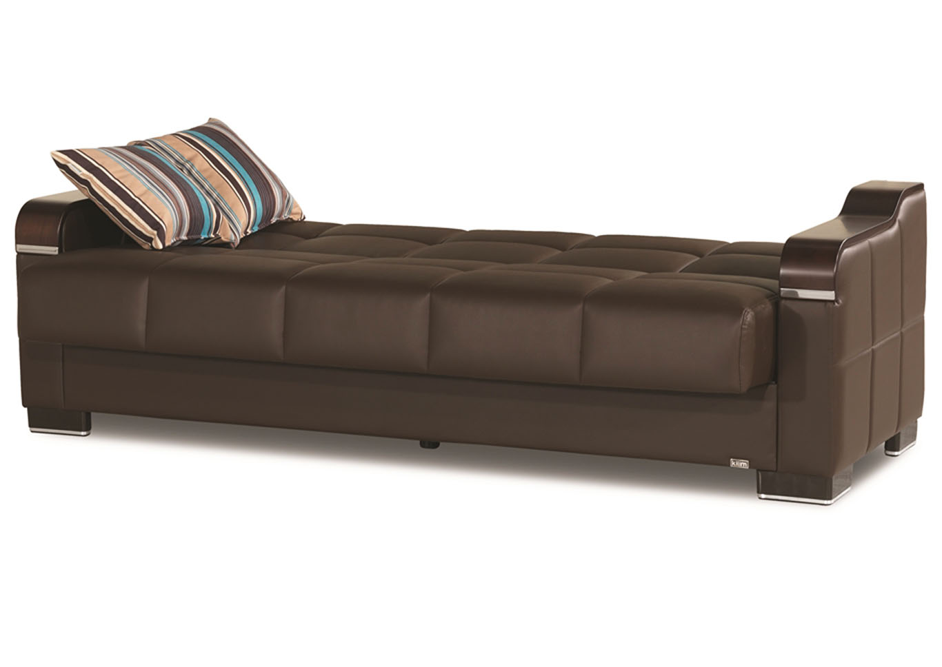 Uptown Brown PU Sofabed,CasaMode Functional Furniture
