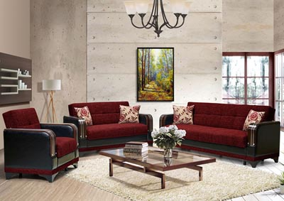 Image for Almira Burgundy Polyester Armchair