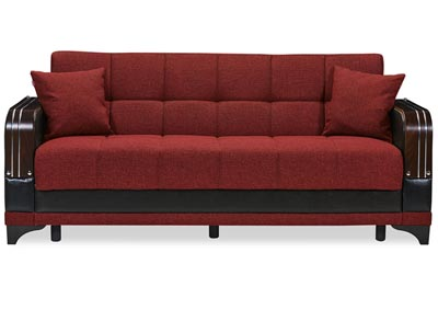 Image for Almira Burgundy Polyester Sofabed