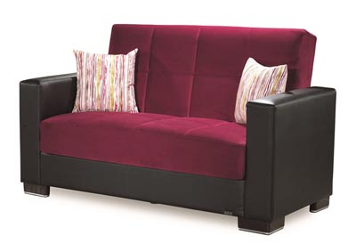 Image for Armada Burgundy #10 Microfiber Love Seat