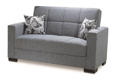 Image for Armada Gray #13 Chenille Polyester Love Seat