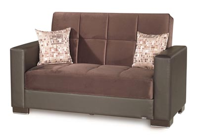 Image for Armada Brown #7 Microfiber Love Seat