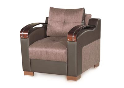 Image for Divan Deluxe Brown Chenille Chair