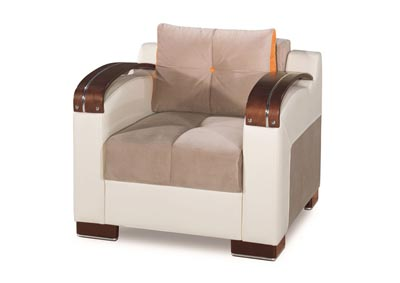 Image for Divan Deluxe Gray Microfiber Chair
