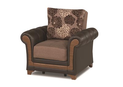 Image for Dream Decor Brown Polyester Chair