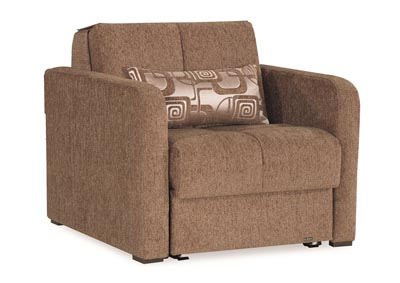 Image for Ferra Fashion Brown Chenille Chair Sleeper