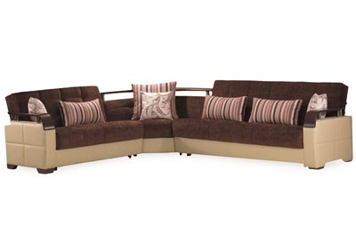 Image for Karma Brown/Cream Sectional