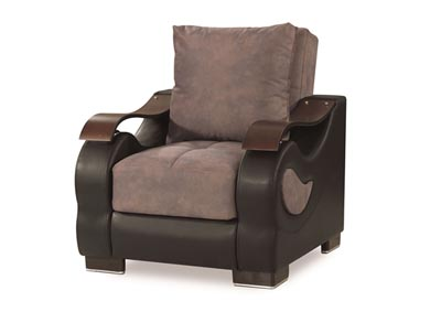 Metroplex Gray Microsuede Chair