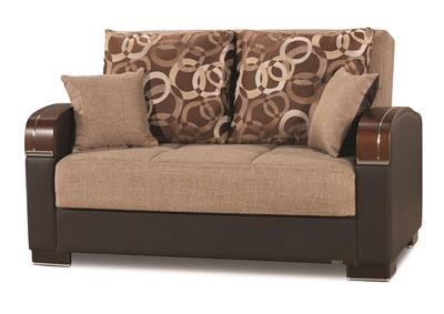 Mobimax Brown Polyester Love Seat