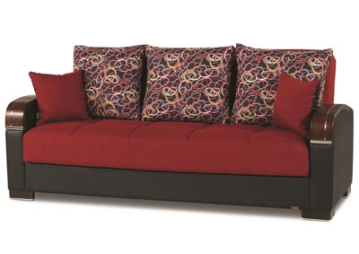 Mobimax Red Polyester Sofabed