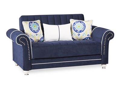 Royal Home Riva Dark Blue Microfiber Love Seat