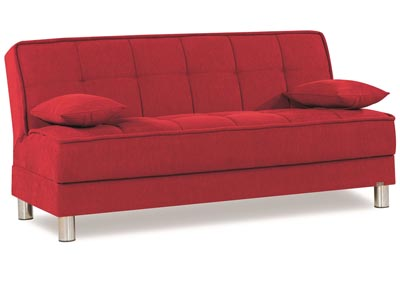Smart Fit Red Chenille Sofabed