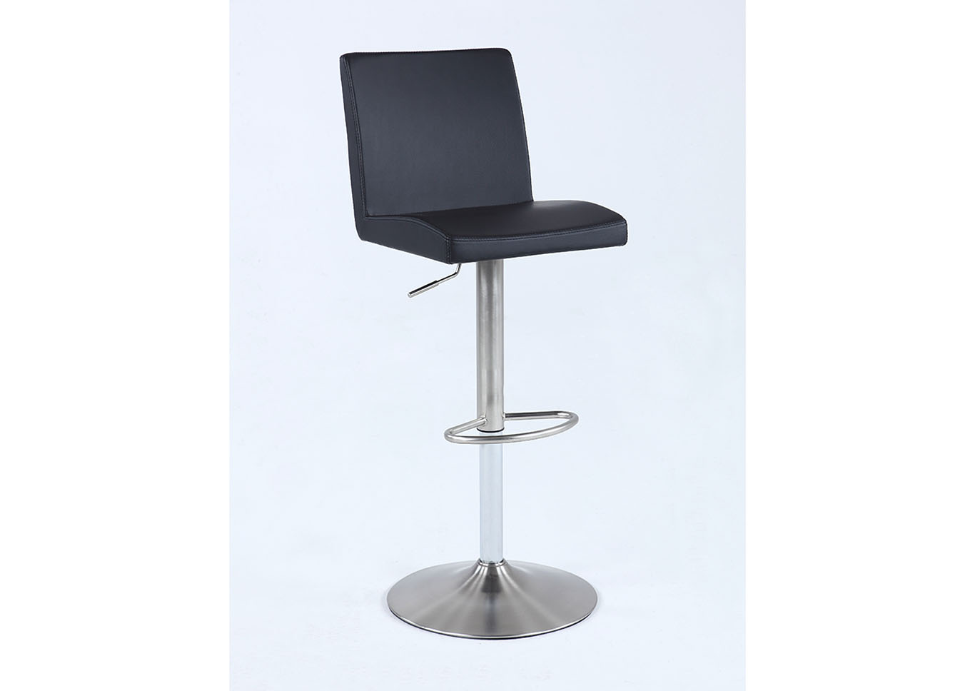 Black Pneumatic Swivel Low Back Stool,Chintaly Imports